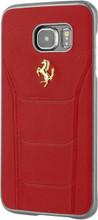 FERRARI - 488 -  Case for Samsung Note5  -  Genuine Leather -   GOLD LOGO (  Red )