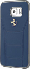 """Hard-case, Ferrari """"488"""" Collection for Samsumg Note 5, Genuine Leather, Blue."""