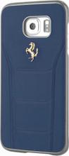 FERRARI - 488 -  Case for Samsung Note 5  -  Genuine Leather - ( Blue ) GOLD LOGO