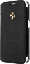 "Booktype, Ferrari ""488"" Collection for Samsumg S7 Edge, Genuine Leather, Black. front view"