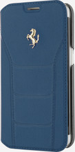"""Booktype, Ferrari """"488"""" Collection for Samsumg Note 5, Genuine Leather, Blue."""