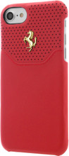 "Ferrari case for iPhone 8/7 ,  collection ""LUSSO""  , Genuine Leather ,   Gold Logo ,  Red"
