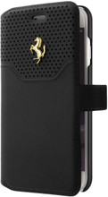 "Ferrari Book type case for iPhone 8/7 ,  collection ""LUSSO""  , Genuine Leather ,   Gold Logo ,  Black"