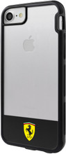 "Ferrari , SHOCKPROOF  Case case for iPhone 8/7  , collection "" Racing Shield "",  Bi-Material ,   Stripe & Black"