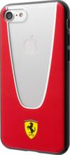"Ferrari Case for iPhone 8/7 , collection  "" Aperta""  , Red & Transparent"