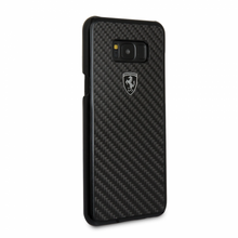 "Ferrari Phone Case for  Samsung Galaxy S8 Plus, collection ""Heritage"", Real Carbon , Black"