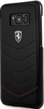 """Ferrari  Phone Case for Samsung Galaxy S8 Plus, collection """"Heritage"""", Genuine leather Quilted, Black"""