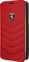 Booktype, Ferrari HERITAGE COLLECTION for Samsung S8, Genuine Leather, Red.
