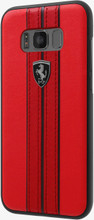Hard-case, Ferrari URBAN Collection for Samsung S8, Genuine Leather, Red.