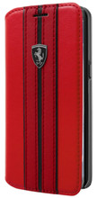 Book Case, Ferrari URBAN Collection for Samsung S8, PU leather, Red.