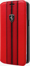 "Ferrari Book Case for  Samsung Galaxy S8 Plus , Collection ""Urban"",  Off Track Logo , Red"