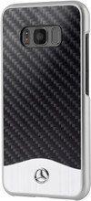 """Phonecase for Galaxy S8, Mercedes-Benz, collection """" Wave V """", Carbon Fiber & Brushed Aluminium ,  Black"""
