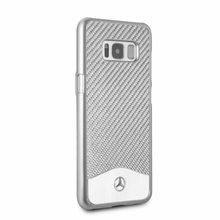 "Mercedes-Benz , Phone Case for  Galaxy S8, Collection ""Wave V"", Carbon Fiber & Brushed Aluminium ,  Silver"