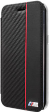 BMW Booktype case  for Samsung Galaxy S8 ,   Bi-Material ,  Carbon  , Red Line