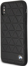 BMW , case for iPhone Xs/X, Genuine Leather , Hexagon - Black