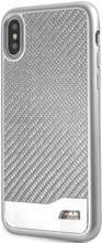 BMW, Case for iPhone Xs/X, Real Carbon Fiber & Aluminium - Silver