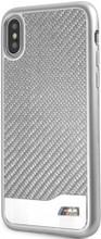 BMW, Case for iPhone Xs/X, Real Carbon Fiber & Aluminium - Silver