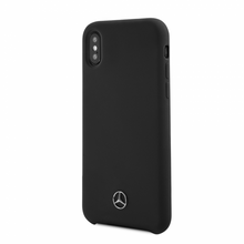 Mercedes , Case for iPhone Xs/X, LIQUID SILICON  with microfiber lining, Black