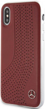 "Mercedes , Case for iPhone Xs/X , collection ""NEW BOW I "",  Genuine leather, Red"