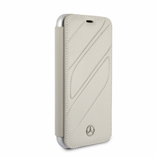 "Mercedes, Book-Case for iPhone Xs/X, collection ""NEW ORGANIC I "", Genuine leather, Crystal Grey"