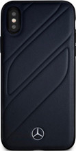 """Mercedes , Case for iPhone Xs/X, collection """"NEW ORGANIC I """", Genuine leather, Blue Abyss"""