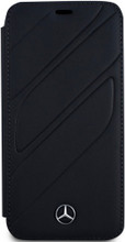 """Mercedes , Book-Case for iPhone Xs/X, collection """"NEW ORGANIC I """",  Genuine leather, Blue Abyss"""