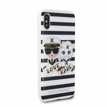 Karl Lagerfeld, Sailors with Stripes, Case for iPhone Xs/X