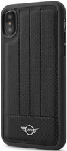 Mini,( Mini Cooper), Case for iPhone Xs/X,  Hybrid Case ,  Debossed Lines , Leather - Black