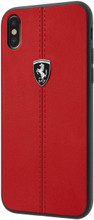"""Ferrari , Case for iPhone Xs/X, Collection """"HERITAGE"""" , W vertical contrasted stripe,  Red"""