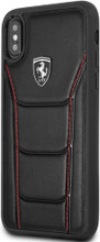 """Ferrari, Case for iPhone Xs/X, collection """" HERITAGE """" 488, Genuine Leather, Black"""