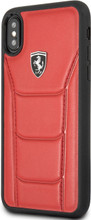 """Ferrari , Case for iPhone Xs/X , collection """" HERITAGE """"  488  , Genuine Leather - Red"""