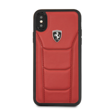 """Ferrari , Case for iPhone Xs/X, collection """" HERITAGE """"  488  , Genuine Leather - Red"""