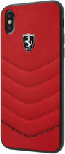 "Ferrari , Case for iPhone Xs/X, collection ""HERITAGE"" , Genuine leather , Quilted - Red"