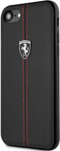 "Ferrari , Case for iPhone 8 /7 , Collection ""HERITAGE"" , W vertical contrasted stripe - Black"