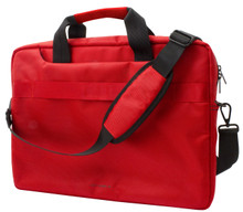 "Ferrari,  Computer Bag 15"", Collection ""URBAN ""- Red with Black Piping"