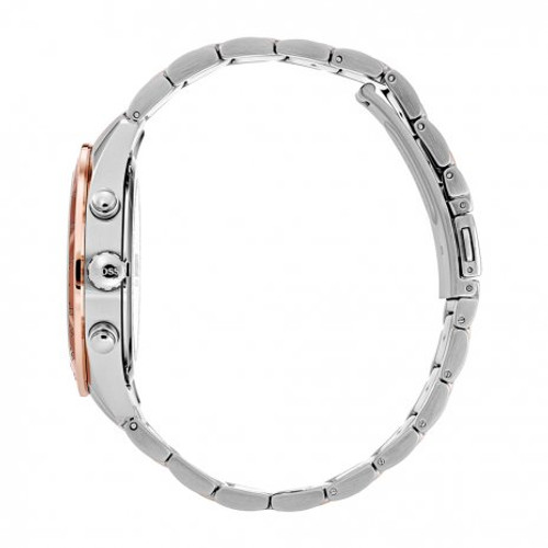 Hugo Boss Watch, Talent collection,  Stainless Steel Case, Black Dial, Tachymeter Bezel, Rose Gold-Tone Bracelet