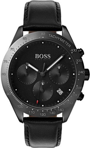 Hugo Boss Watch, Talent collection, Black Ceramic Case , Black Dial, Black Ceramic Bezel, Black Smooth Strap