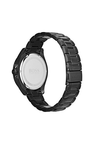 Hugo Boss  Watch, Ocean Edition with Luminova technology in black-plated stainless steel