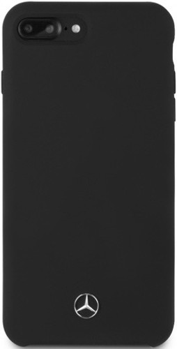 Mercedes , Case for iPhone 8 / 7 Plus, LIQUID SILICON  with microfiber lining - Black