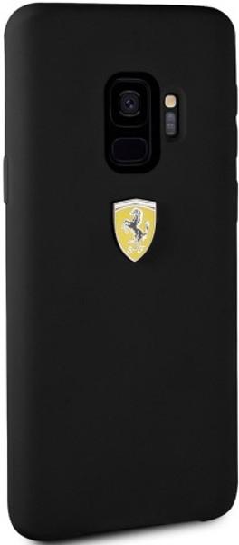reputable site d1e7e 331ae Ferrari, Phone Case for Samsung S9, Silicone , Real Microfiber - Black
