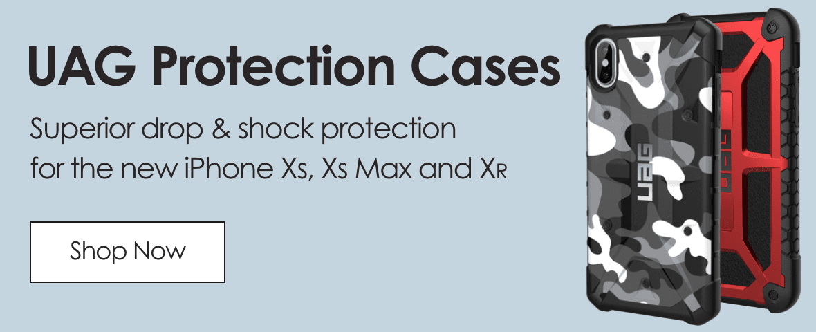 UAG Protection cases. Superior drop & shock protection for the new iPhone Xs, Xs max and Xr