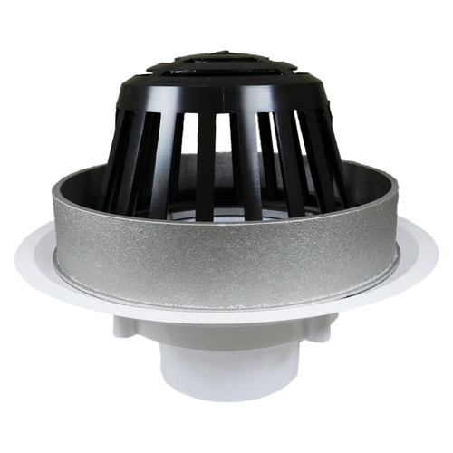 """3"""" Overflow Roof Drain with Plastic Dome"""