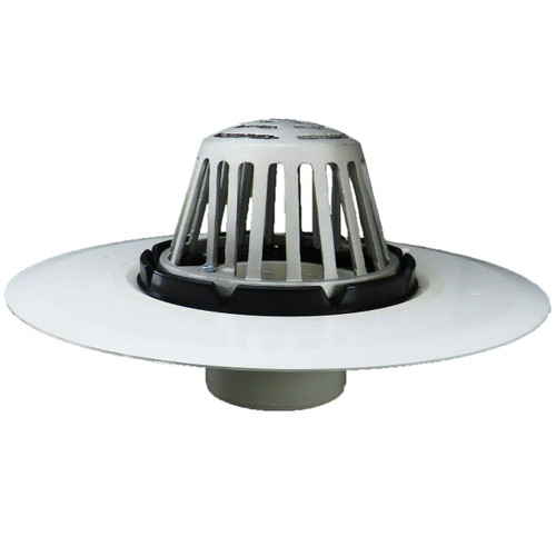 """3"""" Roof Drain with Plastic Receiver Pan & Aluminum Dome"""