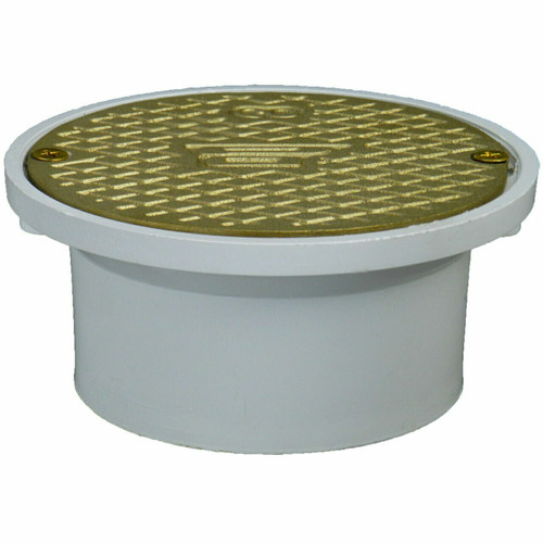 """4"""" Pipe Fit General Purpose Access with Scoriated Brass Cover with Round Ring"""