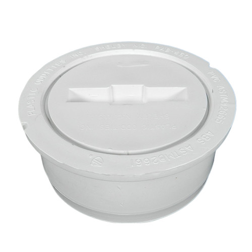 """4"""" Snap-In Hub Fit Cleanout with Plug"""