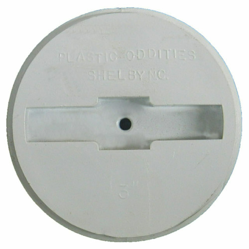 """2.5"""" Plastic Recessed Head Cleanout Plug with Metal Instert"""