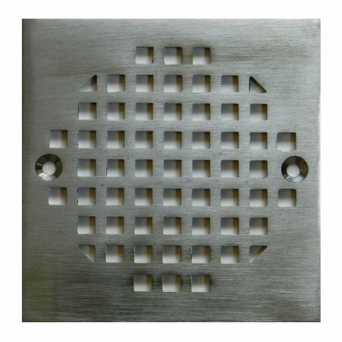 "4-3/16"" Square Stamped Brushed Nickel Strainer"