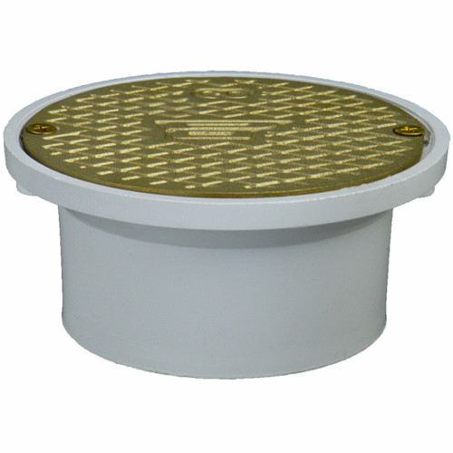 """3""""x4"""" Pipe Fit General Purpose Cleanout with Scoriated Brass Cover"""