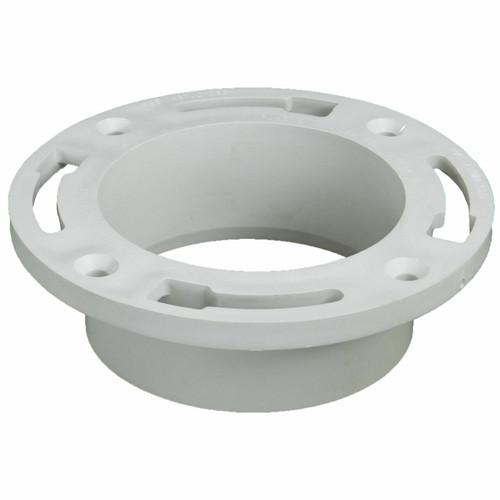 """4"""" Flush-Fit Full Flow Closet Flange without Test Cap"""