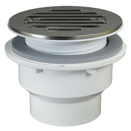 """Fiberglass Shower Drain - 1.5"""" with Nickel Strainer"""